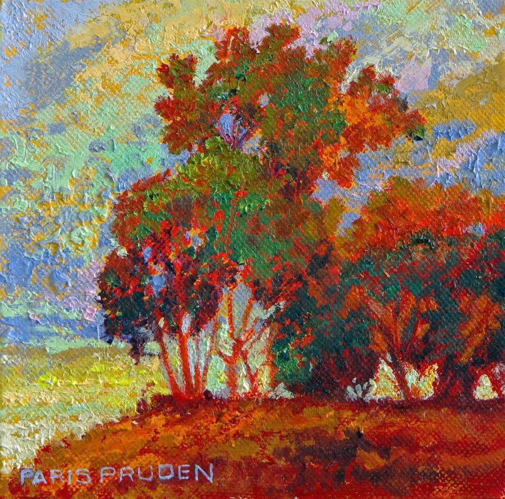 """Red Trees"" original fine art by Nancy Paris Pruden"
