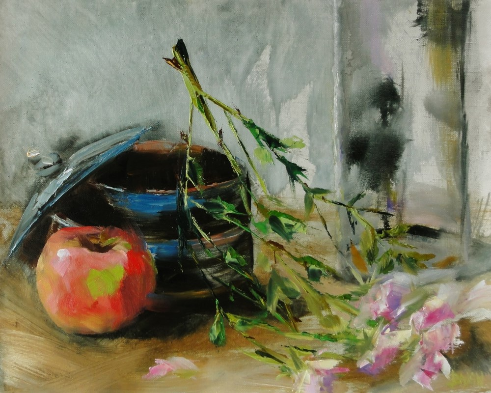 """Tea Roses"" original fine art by Dalan Wells"