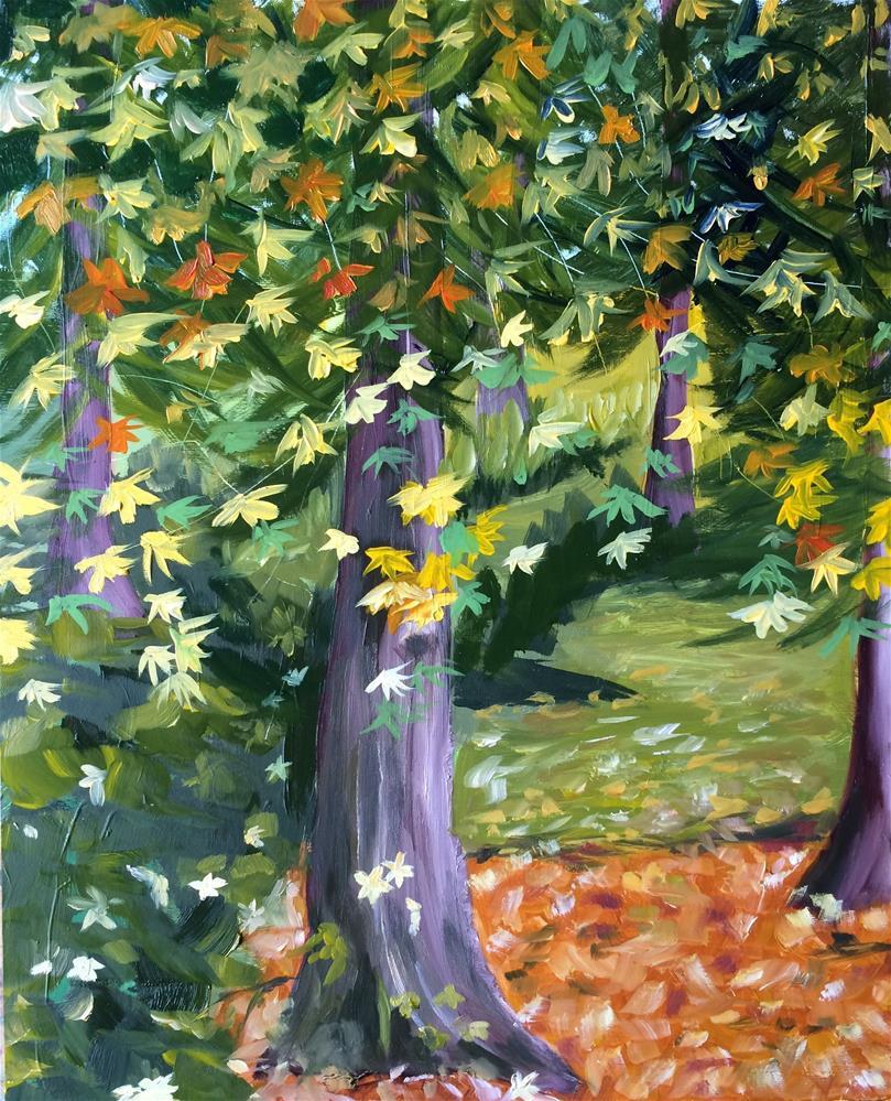"""Browning Avenue"" original fine art by Kim Clay"