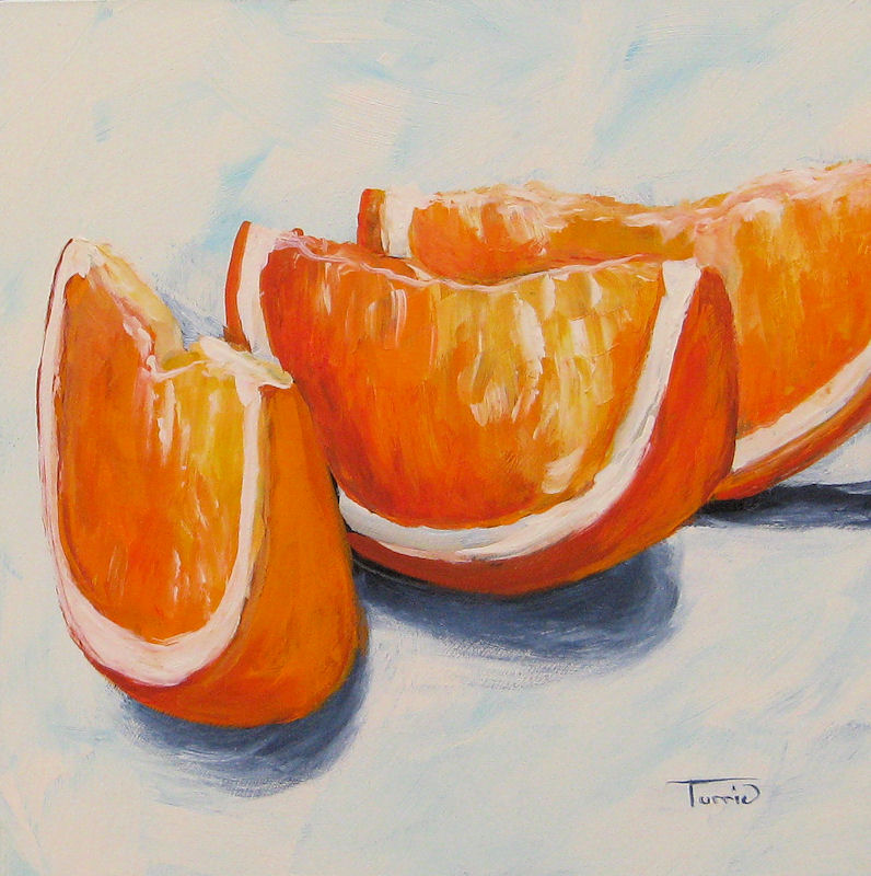 """Orange Wedges"" original fine art by Torrie Smiley"