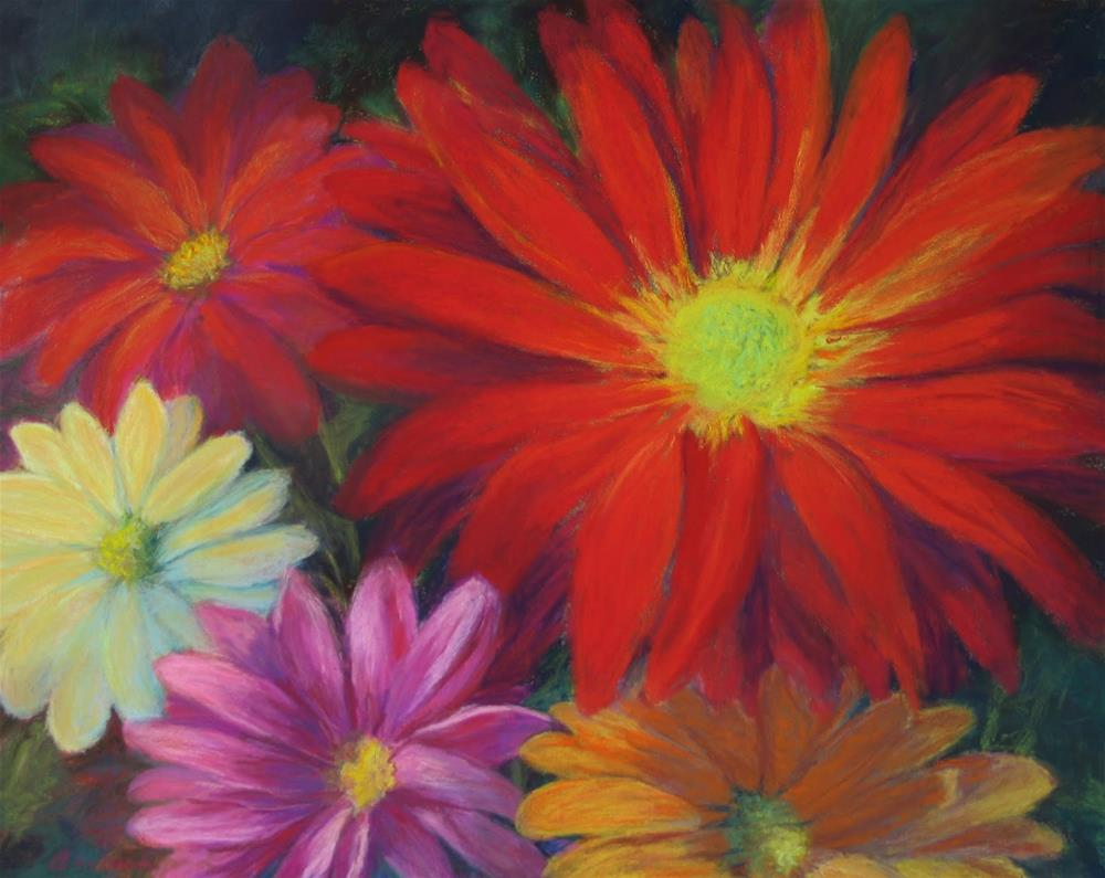 """Flower Power"" original fine art by Vikki Bouffard"