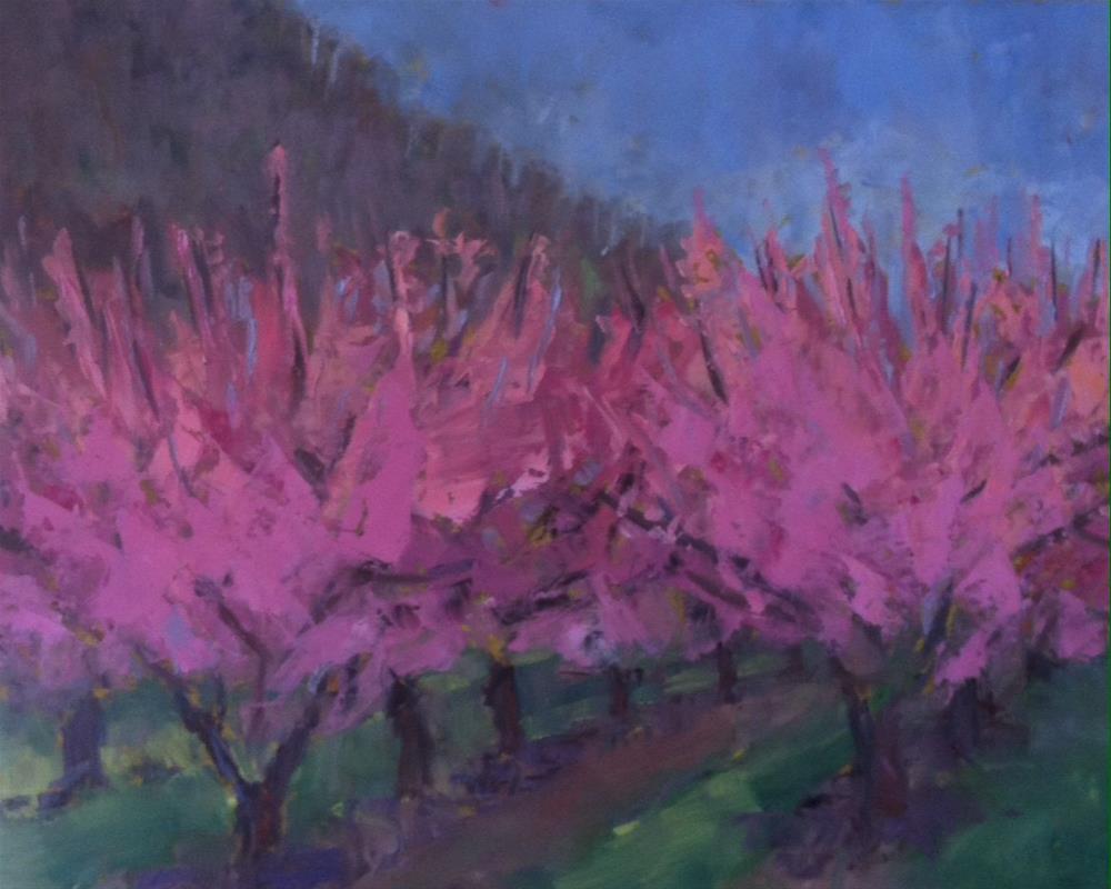 """Peach Trees"" original fine art by Katharine March"