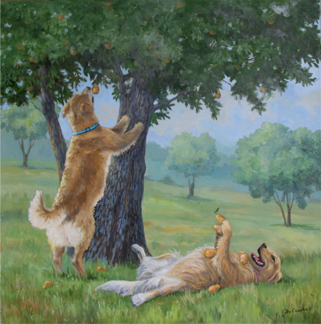 """Bear and Nita"" original fine art by Joy Campbell"