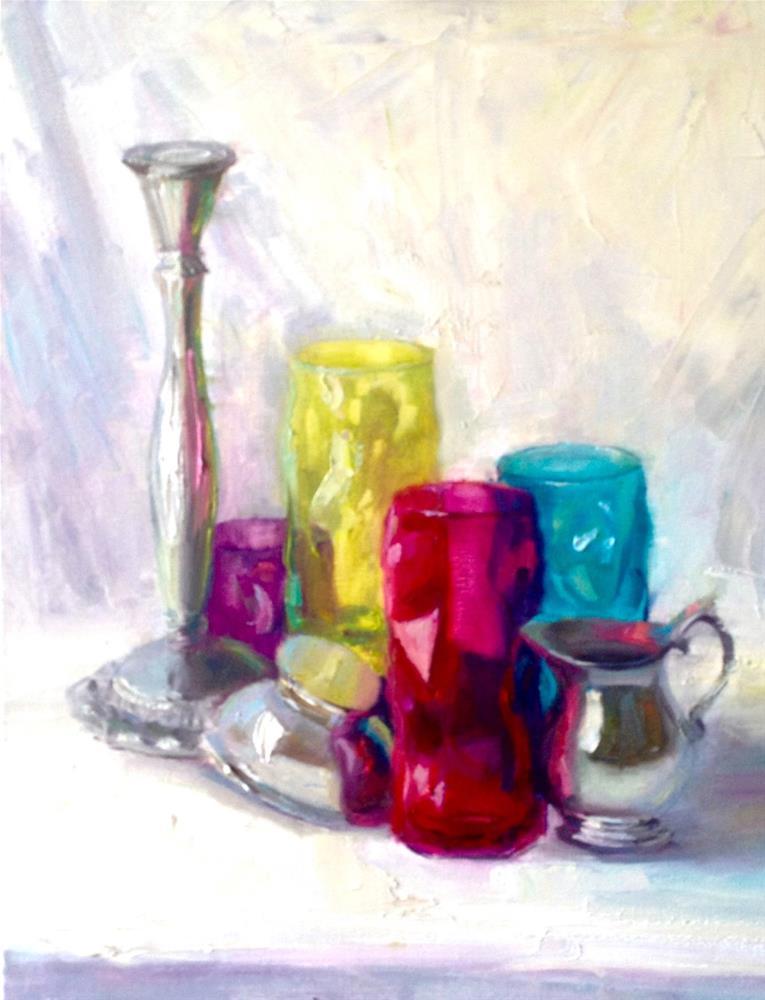 """Pimms"" original fine art by Johanna Spinks"