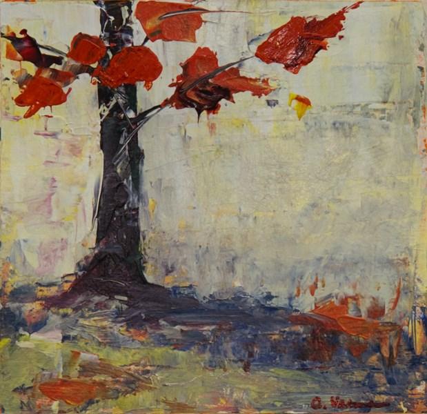 """Portrait of a Tree - Autumn"" original fine art by Anna Vreman"