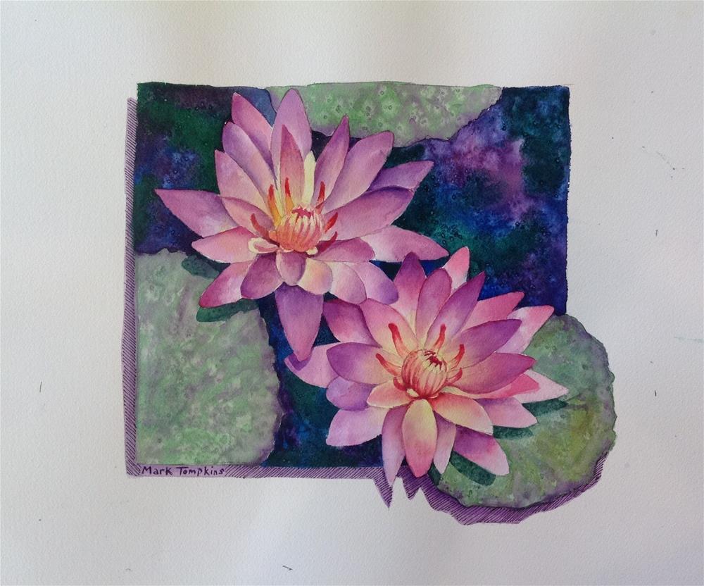 """Water Lilies"" original fine art by Mark Tompkins"