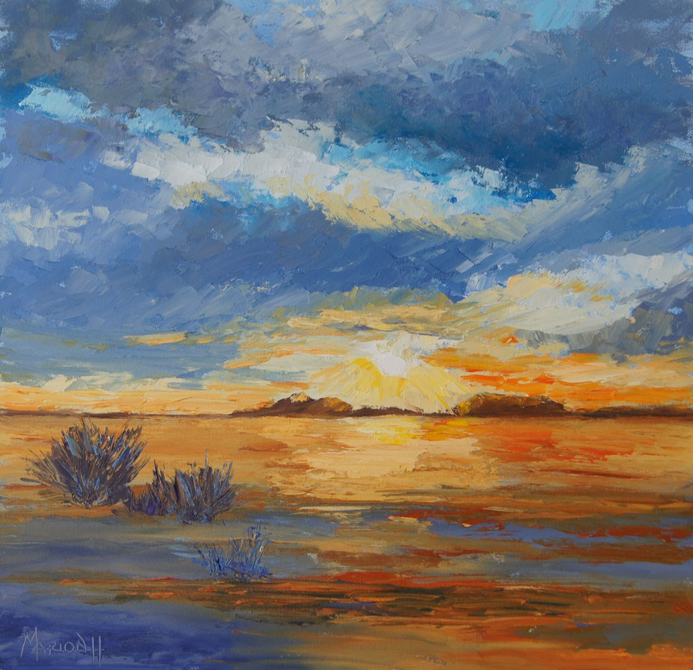 """Namibia Impressions 21 -  Kunene Sunrise,"" original fine art by Marion Hedger"