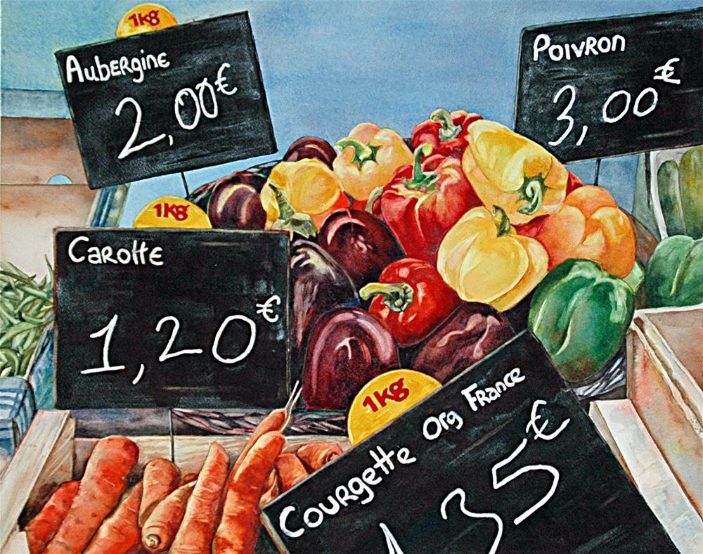 """Market Day"" original fine art by Diane Fujimoto"