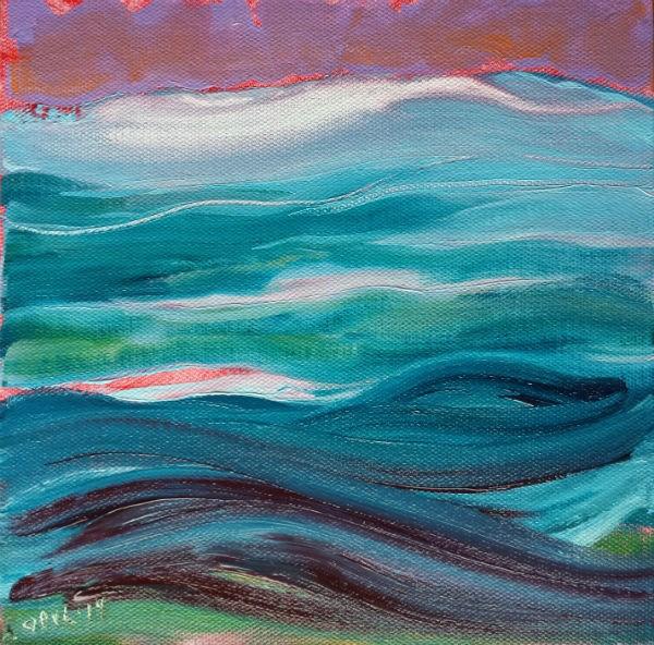 """""""Currents 2 original abstract waterscape"""" original fine art by Pam Van Londen"""