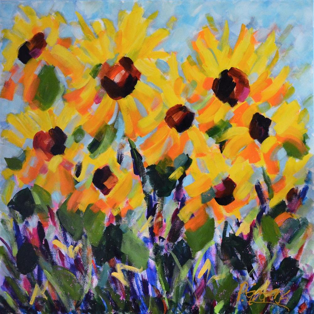 """Big Sunflowers"" original fine art by Pamela Gatens"