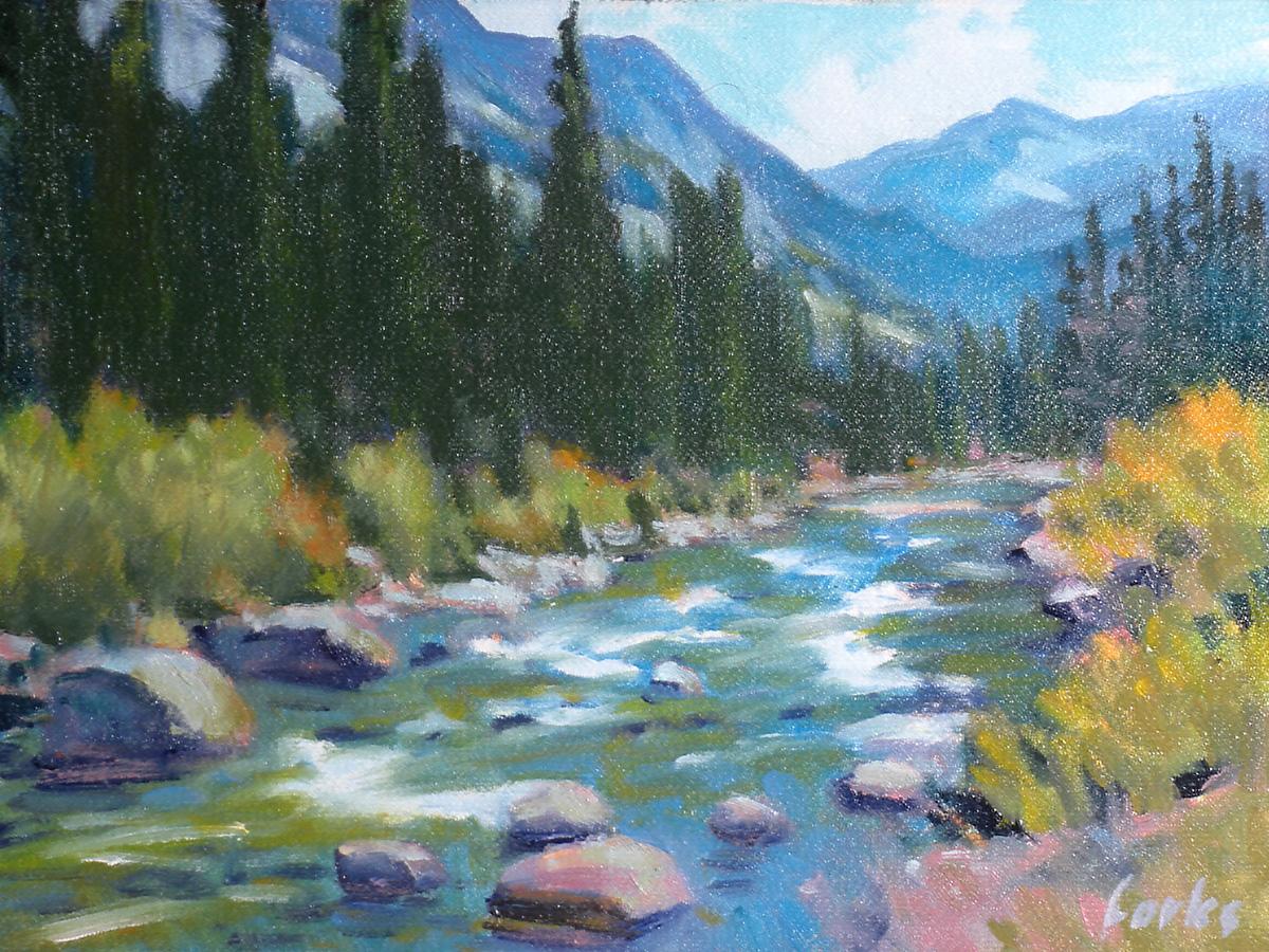 """Swift Water"" original fine art by David Forks"