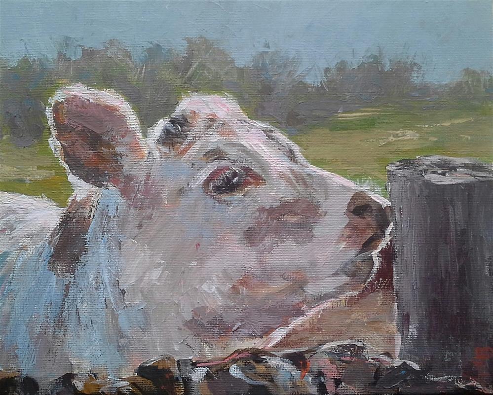 """Itching Post!"" original fine art by Leanne Owen"