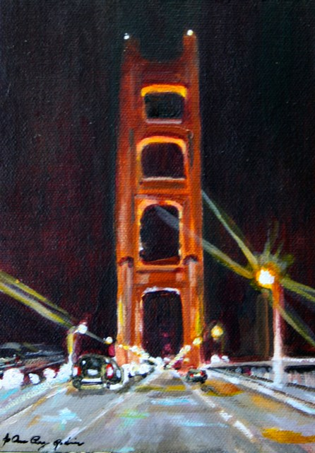 """Crossing The Bridge"" original fine art by JoAnne Perez Robinson"