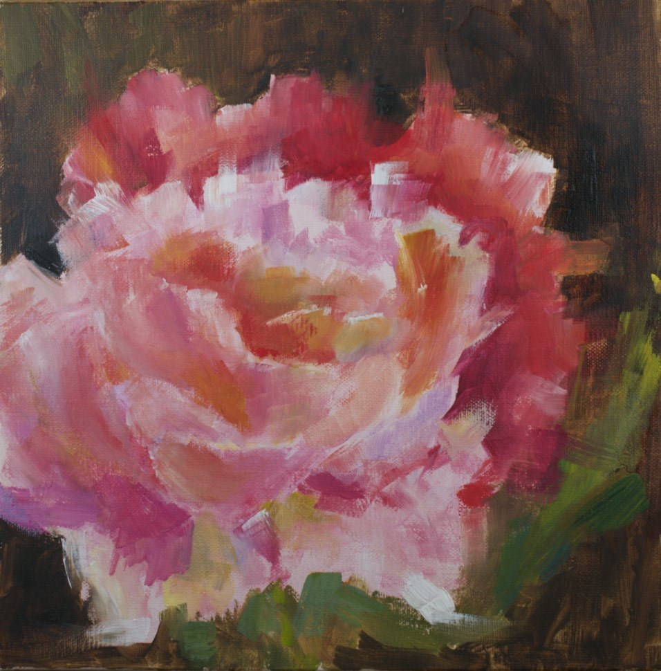 """Peony Study #3"" original fine art by Sue Churchgrant"