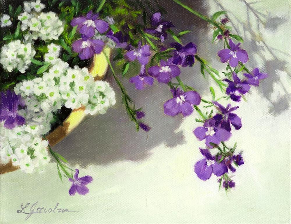 """A Glimpse"" original fine art by Linda Jacobus"
