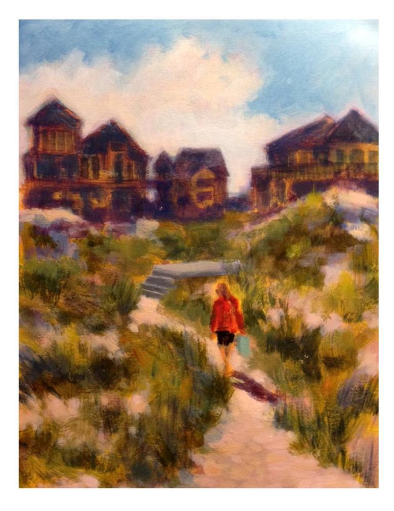 """""""OBX Beach Day"""" original fine art by Suzanne Woodward"""