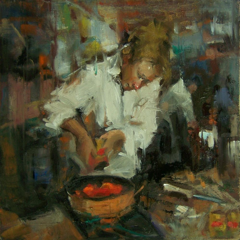 """""""Alla Cacciatora"""" original fine art by Kim Roberti"""