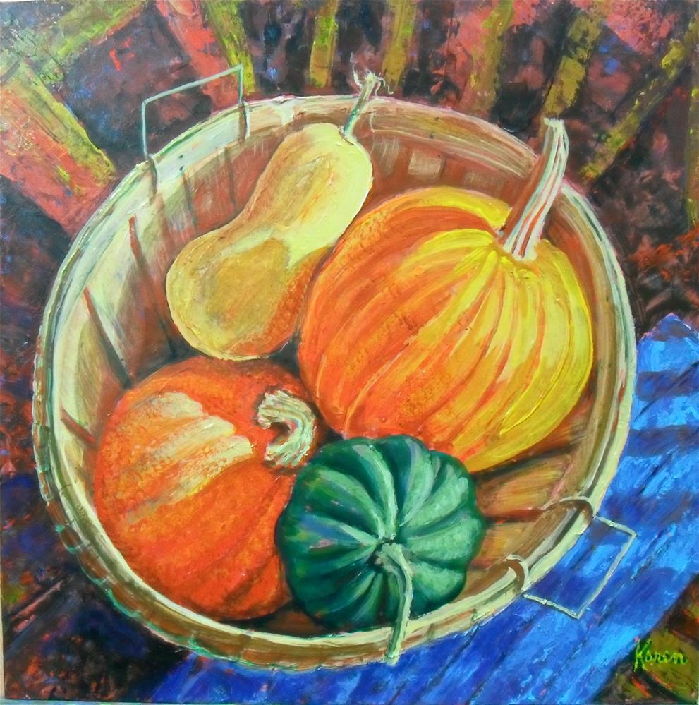 """Harvest Basket"" original fine art by Karen Roncari"