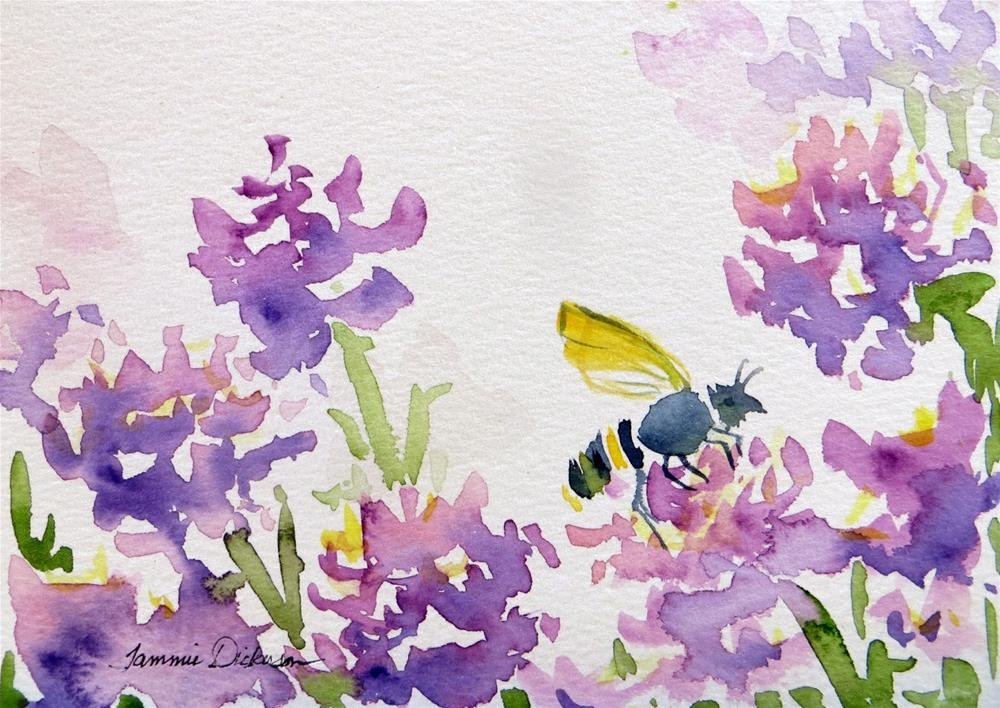 """Clover Bee"" original fine art by Tammie Dickerson"