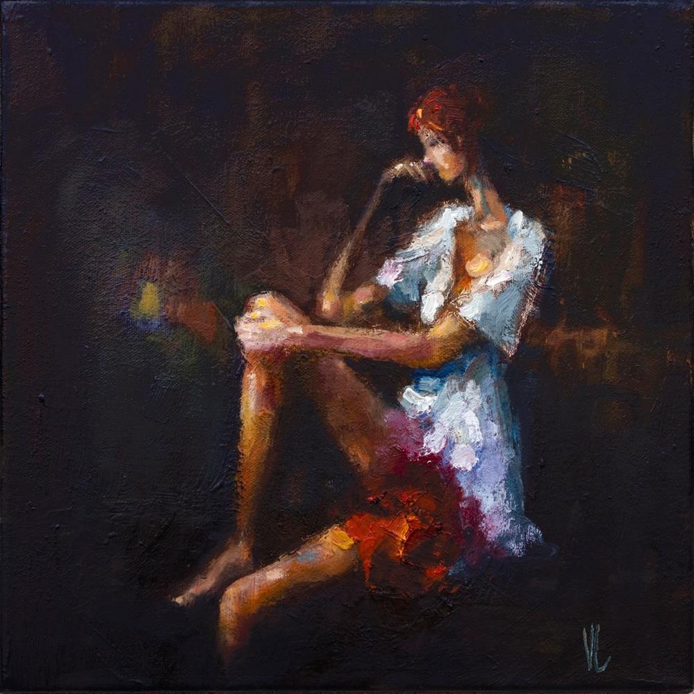 """Thinking"" original fine art by Vladan Ignatovic"