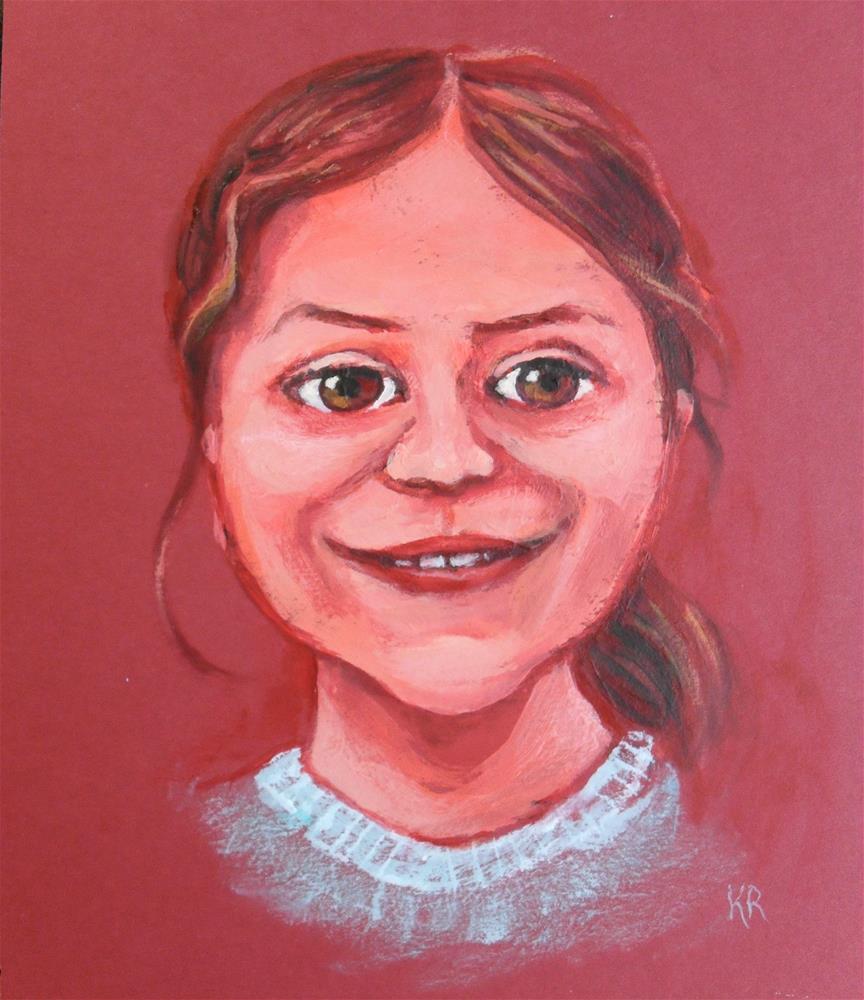 """Happy Face"" original fine art by Karen Roncari"