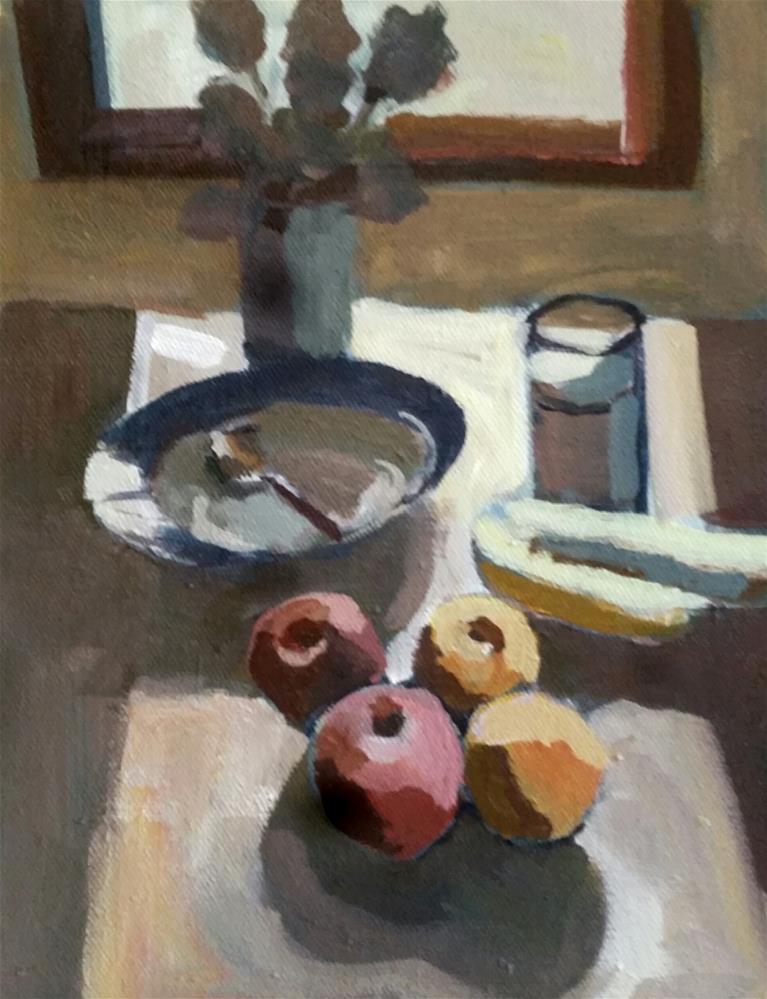 """Milk and Bananas"" original fine art by Liz Maynes"