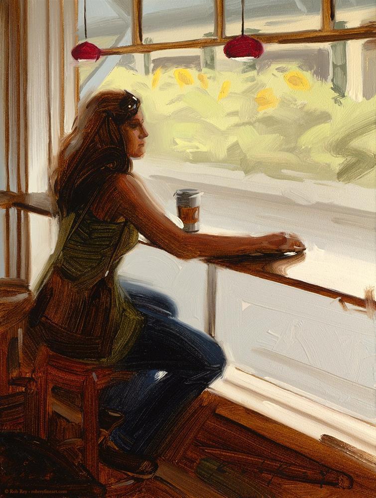"""Window Seat"" original fine art by Rob  Rey"