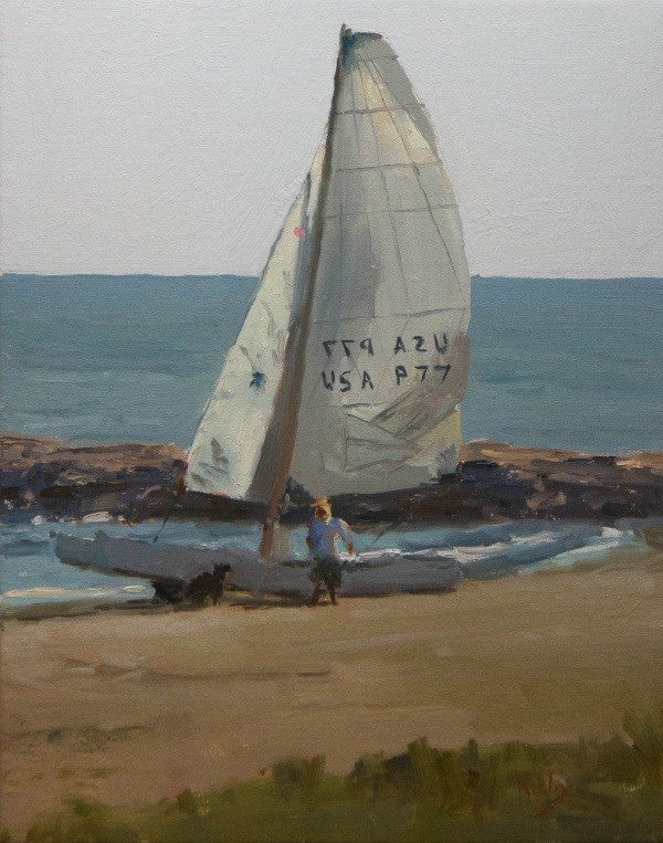 """Ready to Sail"" original fine art by Randall Cogburn"