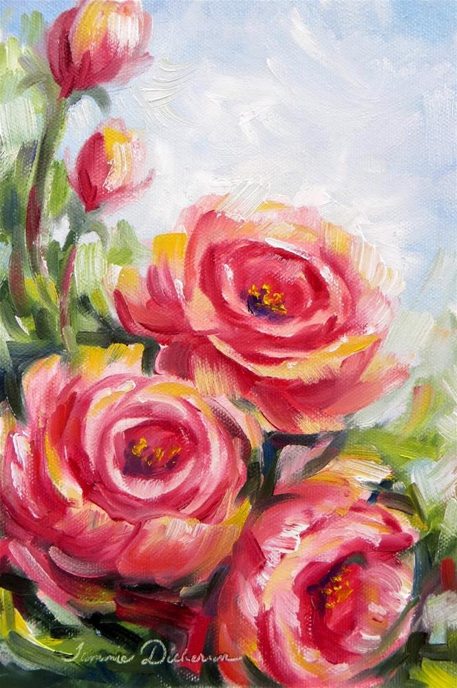 """Rose Rhapsody"" original fine art by Tammie Dickerson"