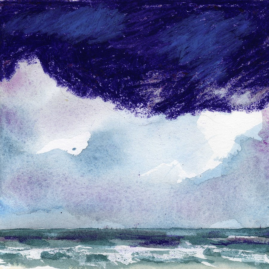"""Purple Clouds"" original fine art by Linda Lowery"