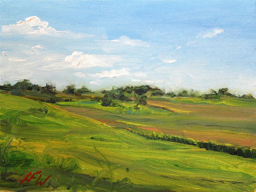 """The View from the Upper Pasture"" original fine art by H.F. Wallen"