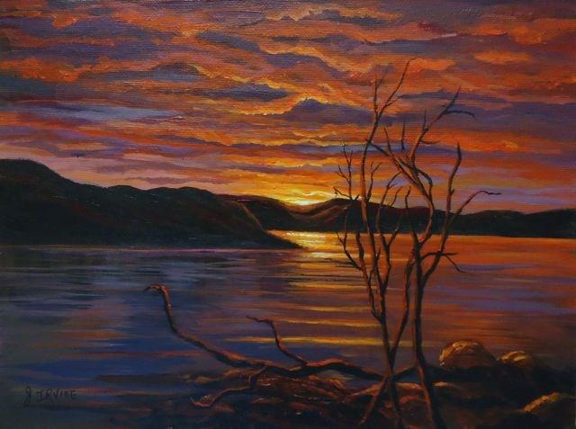 """Little Salmon Lake, Yukon"" original fine art by Jackie Irvine"