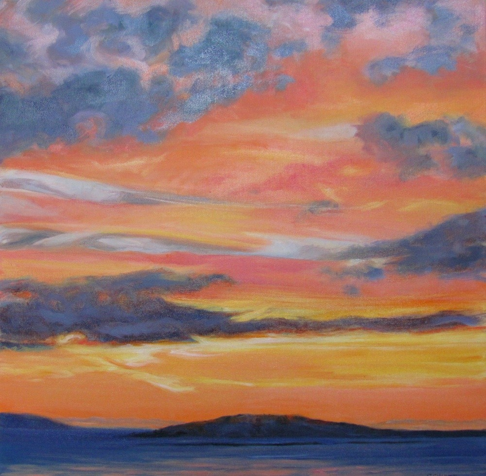 """Coastal Sunrise #4 Into the Fire"" original fine art by Lynne Schulte"