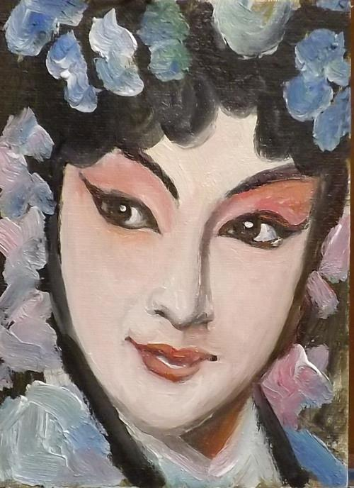 """Peking opera,J30"" original fine art by Run-      Zhang Zane"