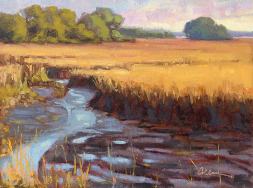 """Cinder Creek"" original fine art by Colleen Parker"