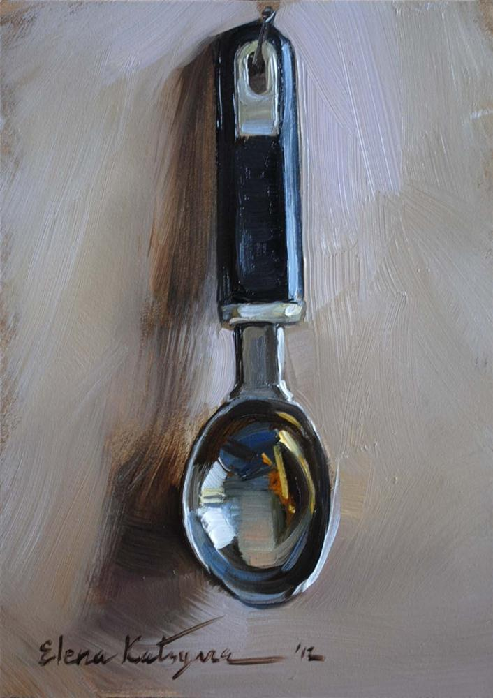 """Ice-Cream Spoon"" original fine art by Elena Katsyura"