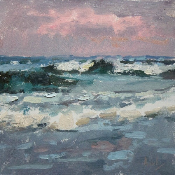 """Evening Surf at San Luis"" original fine art by Randall Cogburn"