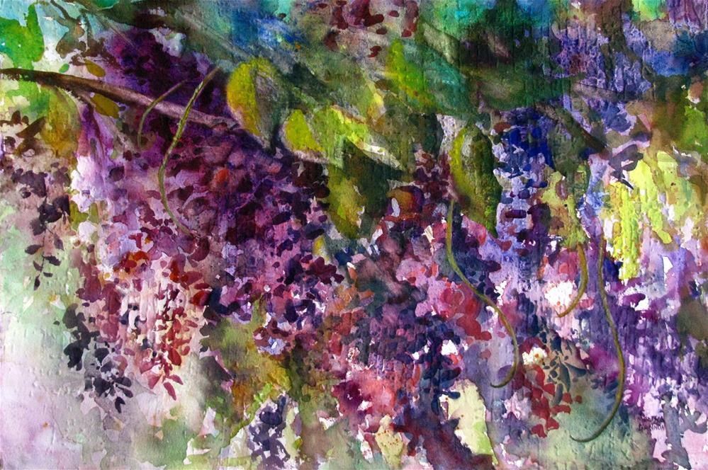 """Wisteria Splendor"" original fine art by Melissa Gannon"