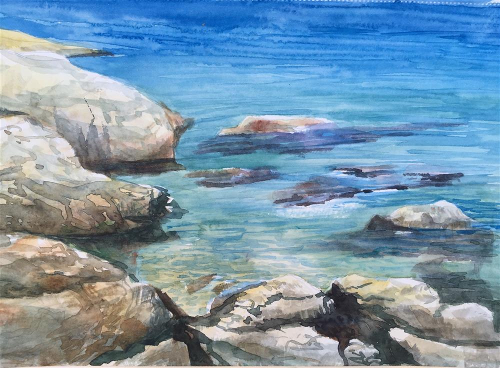 """A cove"" original fine art by Natasha Ramras"