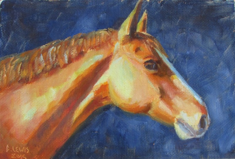 """Horse Study"" original fine art by Christine Lewis"