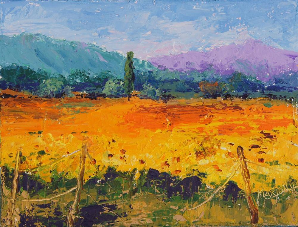 """Sunshine in Provence No.2"" original fine art by Marion Hedger"