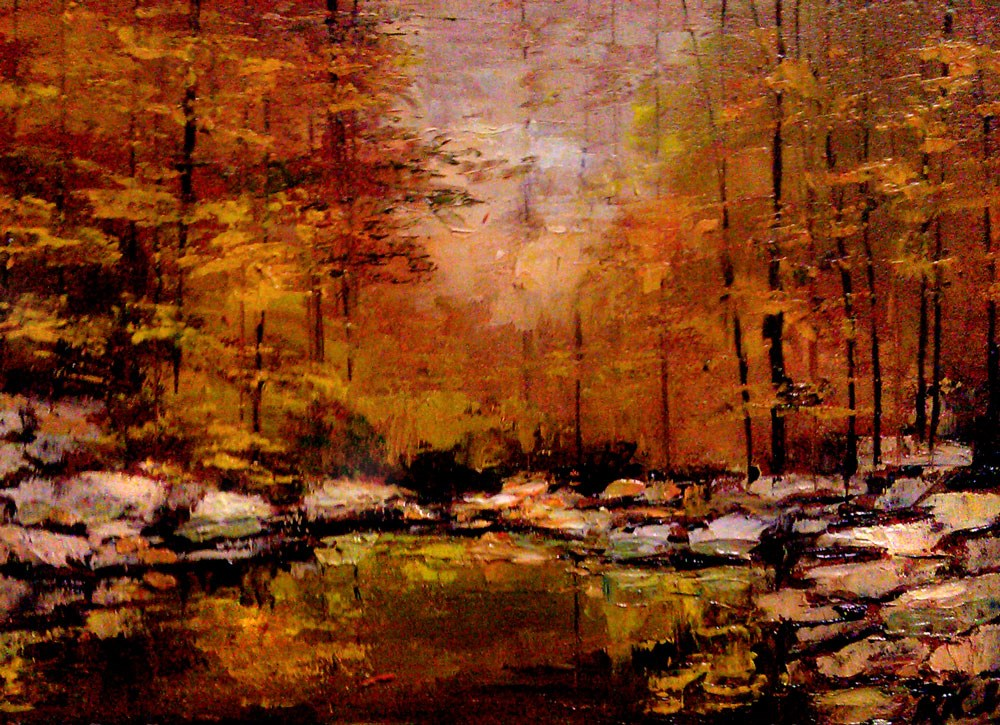 """Rocky Stream"" original fine art by Bob Kimball"