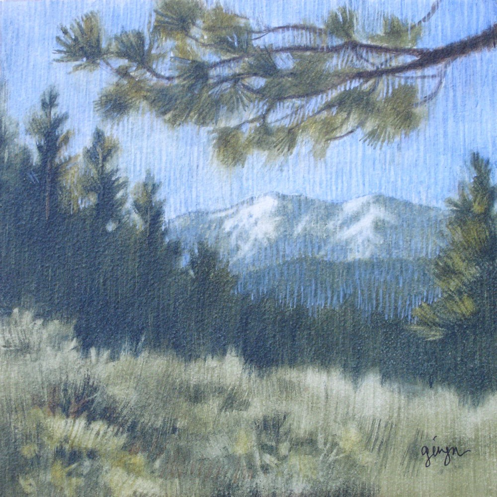 """San Bernardino Peak"" original fine art by Ginger Pena"