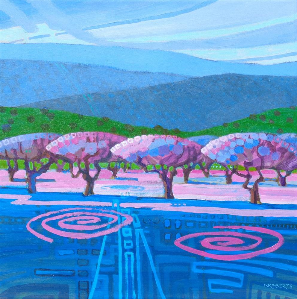 """Orchard Rhythms"" original fine art by Nancy Roberts"