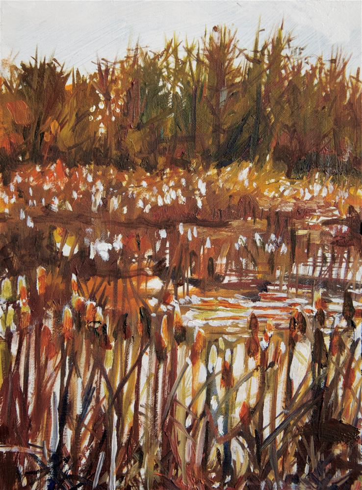 """Winter Swamp"" original fine art by Margot Cole"