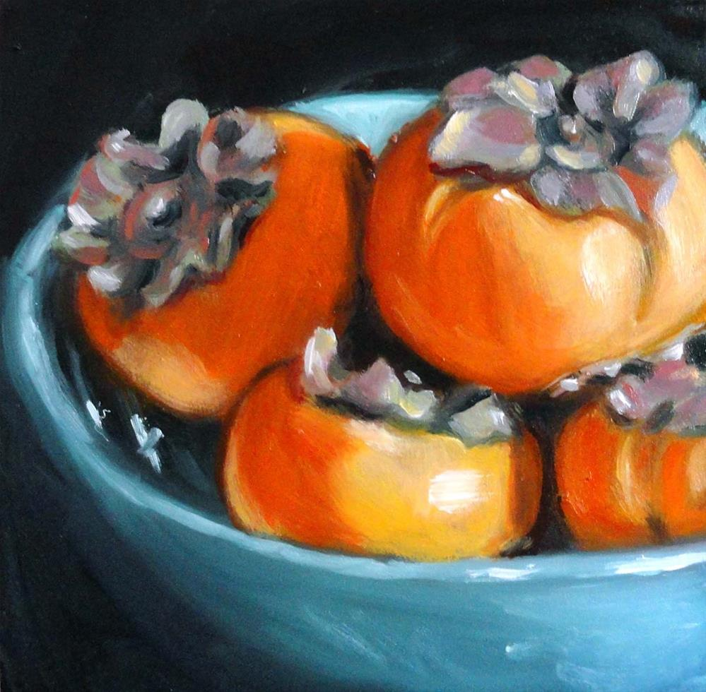 """Pile of Persimmons"" original fine art by Cietha Wilson"