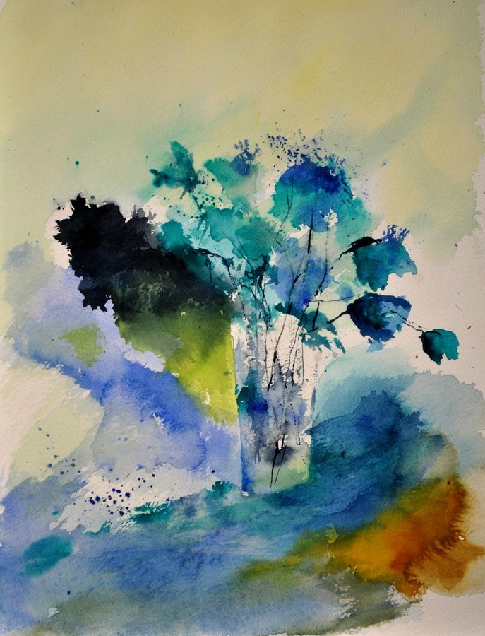 """watercolor 412142"" original fine art by Pol Ledent"