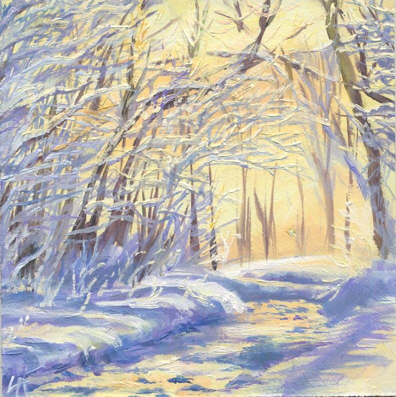 """Winter Impression"" original fine art by Hui (Hue) Li"