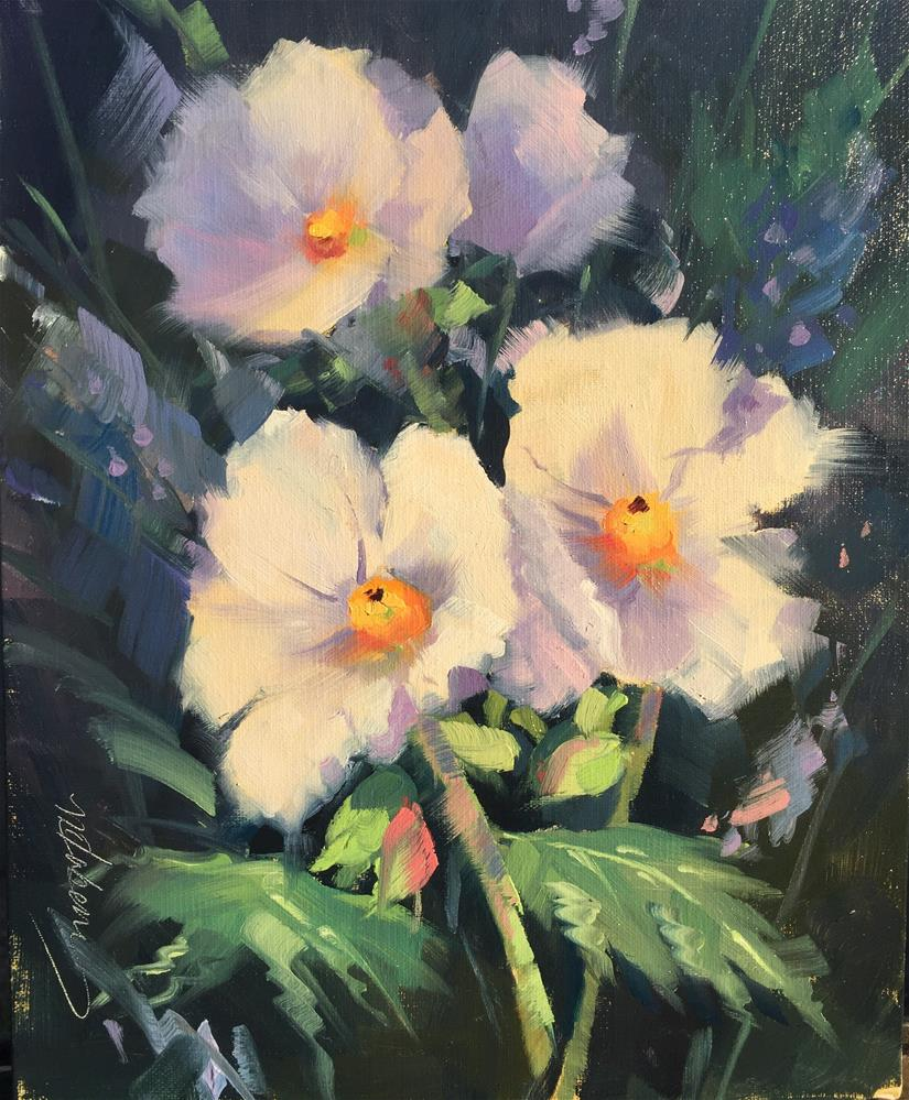 """Prickly Poppies"" original fine art by Mary Jabens"