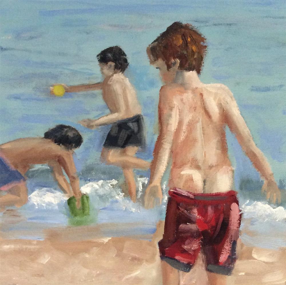 """Oblivious"" original fine art by Patty Barnes"